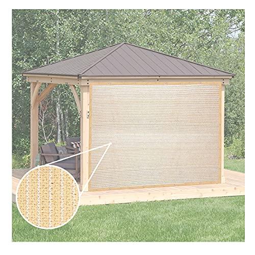 YJSMB Toldo Sombra, Malla Sombra Lados De Ventana Intimidad Protección UV Parabrisas Cubrir con Ojales para Pérgola (Size : 5x6m/16.4x19.6ft)