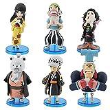 6pcs Anime One Piece Kimono FRANKY Figura de acción Trafalgar Law Figurines Bepo Usopp Modelo Juguetes para niños Muñeca Un regalo de cumpleaños colección de pasatiempos Adornos decorativos Modelo