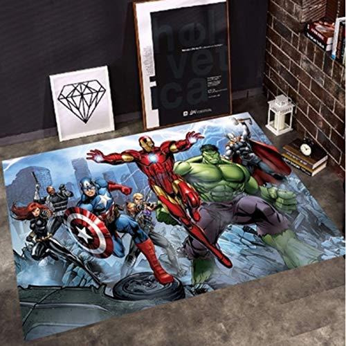 Teppich Cartoon Avengers Baby Spiel Krabbelmatte Rechteckigen Kristall Samt Kinderzimmer Teppich Nach Hause Wohnzimmer Schlafzimmer Nachtteppich