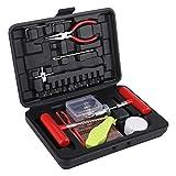 DAUERHAFT Kit de Herramientas de reparación de neumáticos Reparación rápida de Emergencia Kit de reparación de pinchazos de neumáticos pinchados para Reparar pinchazos y Tapones Planos Inicio