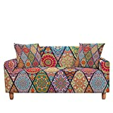 WXQY Funda de sofá elástica Jacquard, Funda de sofá Mandala,...