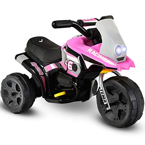 Costzon Kids Ride On Motorcycle, 6V Battery Powered 3 Wheel Bicycle, Electric...
