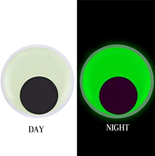 VEYLIN 2 Pack 7 Inch Giant Googly Eyes Glow in the Night with Self-adhesive