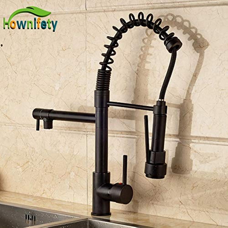 U-Enjoy Kronleuchter Qualitts-Luxus-Solid Oil Top-Qualitt Geriebenes Messing Bronze Kitchen Sink Einhebel Swivel Auslauf Pull-Down-Auslauf Kostenloser Versand