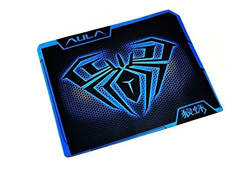 AULA Gaming Mouse Pad with Stitched Edge, Spider Animal Printing PC Computer Mouse Mat, Non-Slip Rubber Base Mousepad for Laptop, Desktop Mice (Blue,11.8x9.3 Inch)