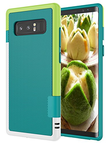 Galaxy Note 8 Case, Note 8 Cover, Jeylly [3 Color] Slim Hybrid Impact Rugged Soft TPU & Hard PC Bumper Shockproof Protective Anti-Slip Case Cover Shell for Samsung Galaxy Note 8 SM-N950 - Green