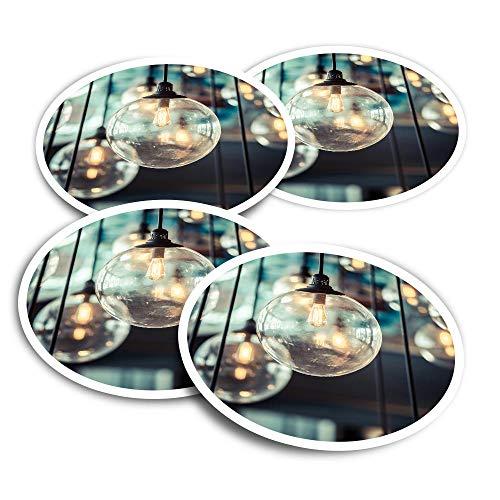 Pegatinas de vinilo (juego de 2) 10 cm – Bombillas retro Edison Bombillas interiores divertidas calcomanías para ordenadores portátiles, tabletas, equipaje, reserva de chatarra, frigoríficos #16155