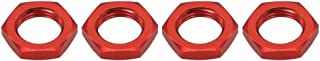 4pcs Alloy Wheel Nut 17mm Thread 1.0 for Arrma 6s Notorious Kraton Outcast Typhon Talion Infraction Limitless Felony(red)