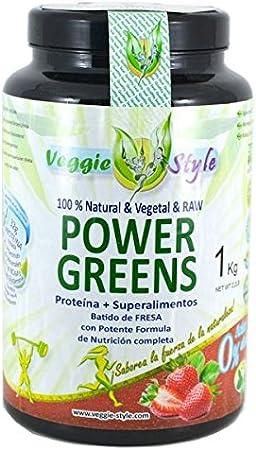 Power Greens - 1Kg - Sabor Vainilla: Amazon.es: Salud y ...