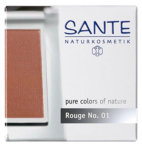 SANTE Naturkosmetik Rouge No. 01 silky terra, Blush, Natürliche Mineralpigmente, Sanfte Textur, Natural Make-up, Bio-Extrakte, 7g