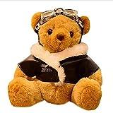Emishin 25 cm Teddy Bear Toy Pilot Soft Pilot Doll Set Regalo llenado Juguetes bebés niños