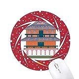 Taiwan Sehenswürdigkeiten Chikaniou Reiserad Maus Pad Round Red Rubber
