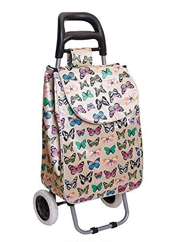 Alice's Collection - Carrito de la compra ligero con 2 ruedas (impermeable,...