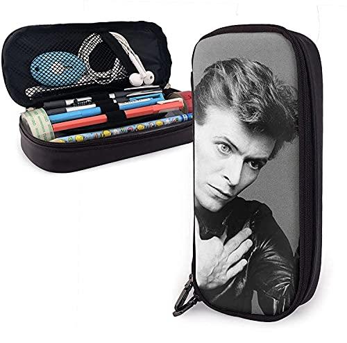 Estuche para lápices, David Bowie Heroes de gran capacidad para bolígrafos, bolsa de papelería, organizador de escritorio con cremallera para suministros escolares y de oficina