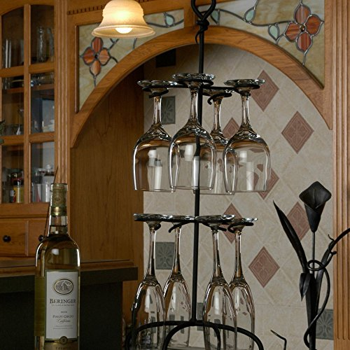 Wire Black Wine Glass Rack Holder 25' Height