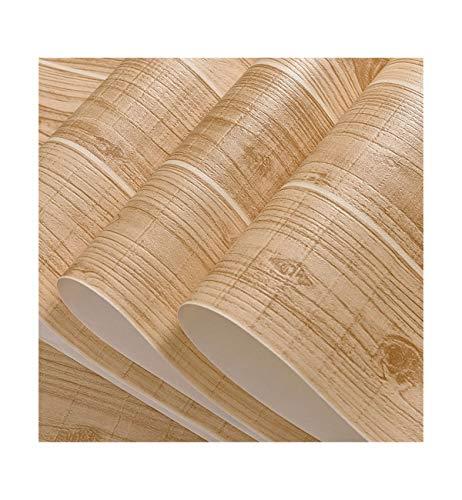 Multi-wallpaper Chinese klassieke gesimuleerde houtnerf houten plank strepen behang restaurant café thee geel