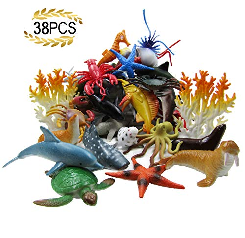 HAFUZIYN Ocean Sea Animal, Assorted Mini Sea Creatures Toys...