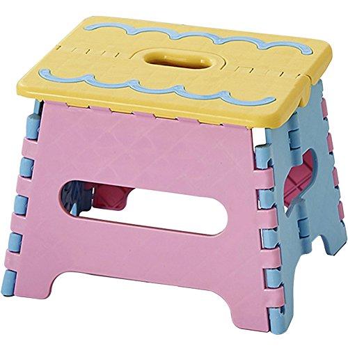 チャミ 折りたたみ 椅子 踏み台 ステップ 台 プラスチック すべり止め コンパクト 軽量 持ち転び 子供 お年寄り 高さ18cm(背もたれ無い イエロー)