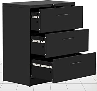 3 Drawers lateral File Cabinet 2 Drawer Locking Filing Cabinet 3 Drawers Metal Organizer Heavy Duty Hanging File Office Home