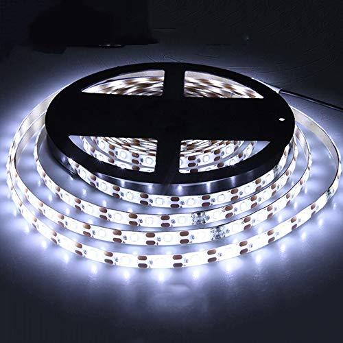 ACBungji Tira de luces LED 3M con sensor PIR, 180 ledes, luz blanca fría, funciona con pilas, autoadhesiva, para debajo del armario, dormitorio, techo, cocina, interior, decoración de Navidad