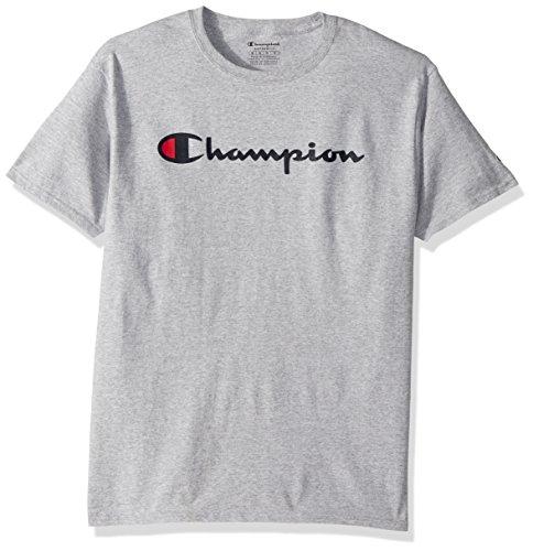Champion Men's Classic Jersey Script T-Shirt, Light Steel, XL