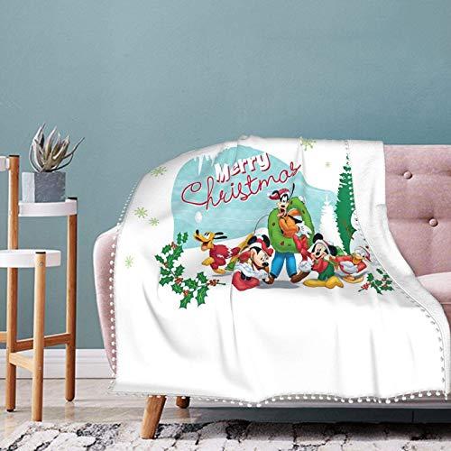 Manta blanca con flecos de pompón, ligera y acogedora, de ajuste suave, cálida, para sofá o sofá