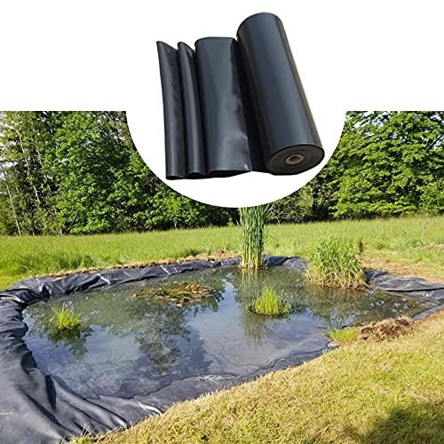 Geyao Vijvervoering HDPE vijvervoering, zwart, 2 x 5 m, 3 x 6 m, 4 x 8 m, 5 x 9 m, 6 x 10 m, 8 x 12 m (maat 13 ft x 23 ft/4 x 7 m)
