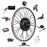 Ebike Conversion Kit 48V 1500W 700C (NOT 26') Direct Drive Waterproof Electric Bike Conversion Kit - Ebike Kit - Rear Wheel Hub Motor Kit S830 LCD Display (Rear/LCD/Thumb)
