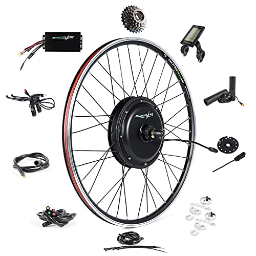 "EBIKELING Waterproof Ebike Conversion Kit 48V 1500W 700C Direct Drive (NOT 26"") Electric Bike Conversion Kit - Rear Wheel Electric Bicycle Hub Motor Kit (Rear/LCD/Thumb)"