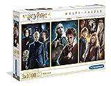 Clementoni- PZL 3X1000 Harry Potter Puzzle Adulto, Multicolor (61884)