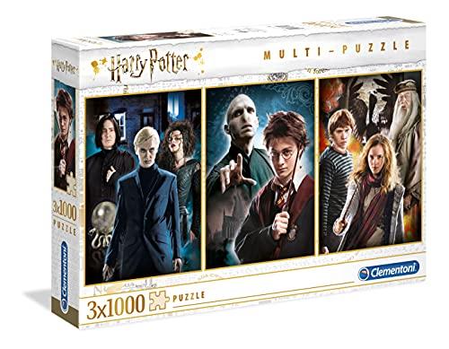 Clementoni 61884 Harry Potter Multi-Puzzle, 3x1000 Teile