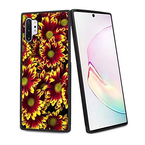 UZEUZA Funda protectora para Samsung Galaxy Note 10+ 5G con bordes negros para Samsung Galaxy Note 10+ 5G campo de flores
