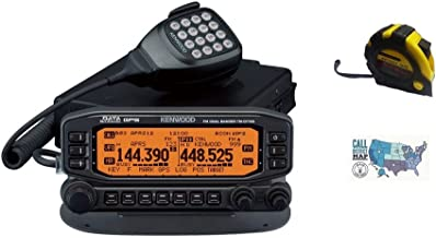 Bundle - 3 Items - Includes Kenwood TM-D710GA Mobile Radio, 2m/70cm, 50W, GPS with The New Radiowavz Antenna Tape (2m - 30m) and HAM Guides Quick Reference Card