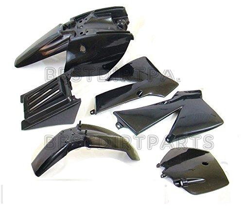 BLACK COLOR PLASTIC FENDER KIT COMPATIBLE WITH 2002-2008 KTM50 KTM 50 SX JUNIOR 50CC