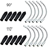 JooFn Bike V Brake Noodle Cable Guide Pipe Rubber Boots Bicycle Cycling 10 Sets(20Pcs)