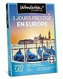 Wonderbox - Coffret cadeau - 3 JOURS PRESTIGE EN EUROPE - 720 séjours prestigieux en hôtels 3* ou 4*, domaines, châteaux à Paris, Lisbonne, Berlin, Vienne, Londres, Madrid, Venise