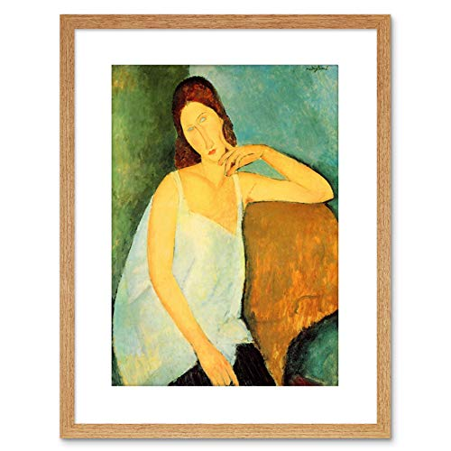 Painting Modigliani Portrait Jeanne HEBUTERNE Four Framed Art Print F97X8994