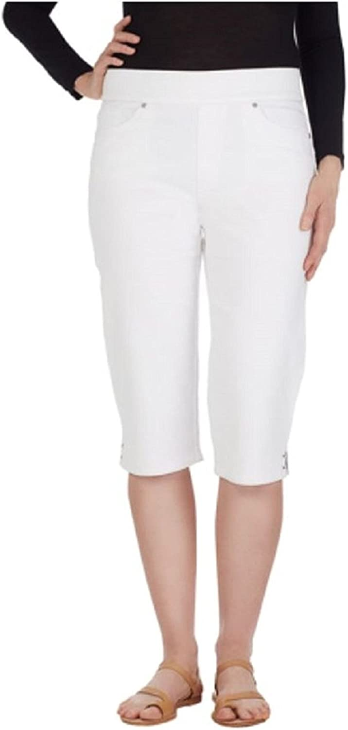 Gloria Vanderbilt Women's PlusSize Avery Denim PullOn Skimmer Short