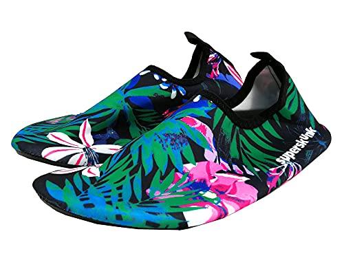 Zapatillas/Escarpines Ajustables Ideales para Actividades acuáticas Buceo, Snorkel, Surf, Piscina, río, Playa,...