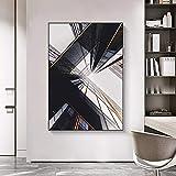 Wfmhra Moderne abstrakte Architektur Poster Leinwanddruck