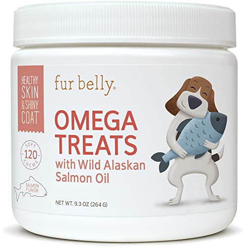 Fish Oil for Dogs - Omega 3 for Dogs - Wild Alaskan Salmon Oil for Dogs - Dog Allergy Relief for Itchy Skin - Fatty Acids - Dog Joint Health - Itch Relief for Dogs - 120 Soft Chew Dog Treats