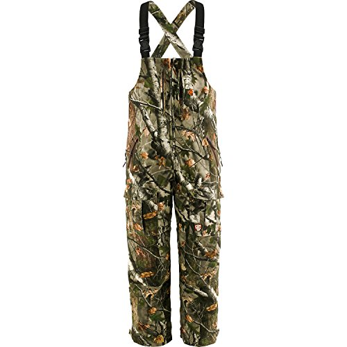 Legendary Whitetails Mens HuntGuard Reflextec Bibs Big Game 360 Camo Medium