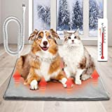 Dog Heating Pad, 28' x 23.6' Electric Heating Pads for Dogs Cat Pet with Chew Resistant Steel Cord-Plug and Play