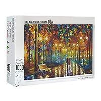 古典的な有名な絵の紙のパズル- 雨の中を歩い-1000個ジグソーパズル大人のためのDIYホームデコレーションパズル木製の風景アートパズル解凍ジグソーパズルのおもちゃを描きます
