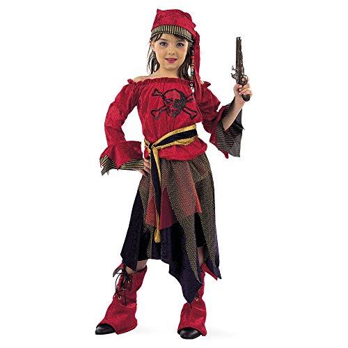 Disfraz original de pirata para niña, 5 piezas.