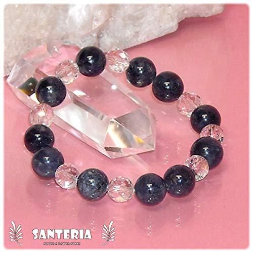 [天然石 サンテリア] サファイア 水晶 パワーストーン 天然石 ファッション ブレスレット レディス LL