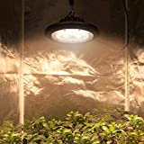 BloomGrow New Tech 300W Full Spectrum LED UFO Grow Light Lamp Bulb Grow Lights for Hydroponics Greenhouse Indoor Plant Growing (Actual Power: 100W)