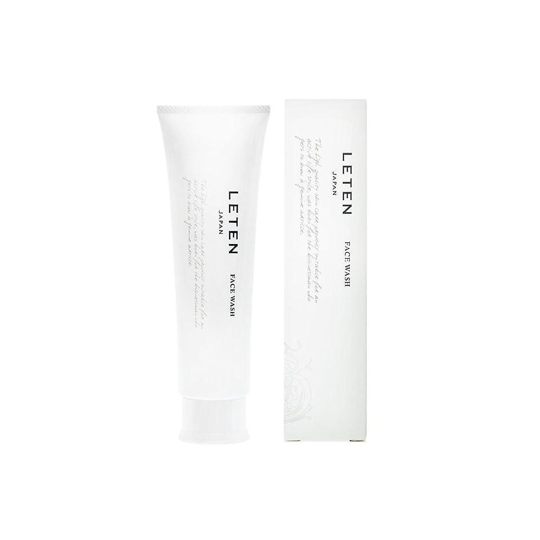 バッジりスポンジレテン (LETEN) フェイスウォッシュ 100g 洗顔フォーム 洗顔料 敏感肌