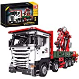 Barm Technic - Juego de construcción de camión con grúa móvil, 2.4Ghz / App Modelo de grúa RC con Motor de Funciones eléctricas, 3925 Piezas de Bloques de construcción compatibles con LegoTechnic