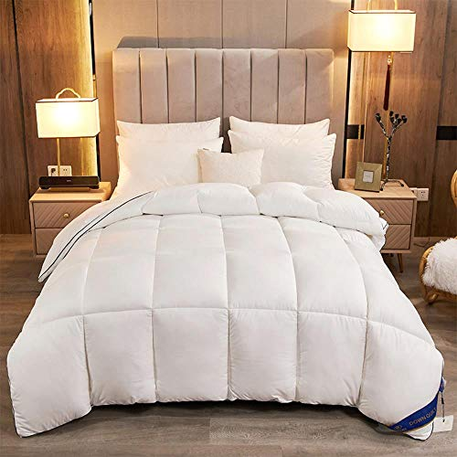 Miwaimao 95 White Goose Down Duvet Spring And Autumn And Winter Cotton Quilt Hotels Are Gifts To Be,White,150 * 200cm